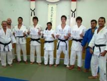 Judo- Remise des grades de ceintures noires de la saison 2012/13.