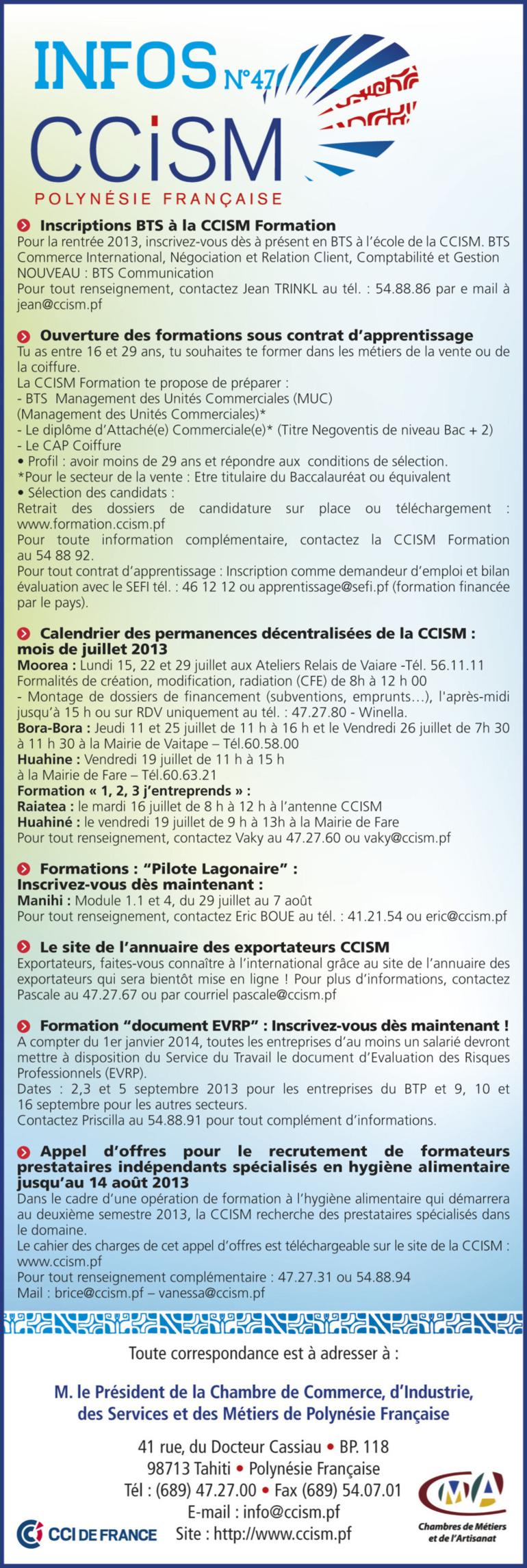 Infos CCISM N°47