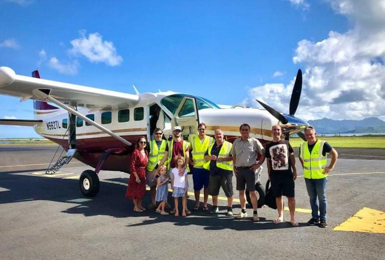 Le Cessna 208 Caravan, baptisé Pihiti, est actuellement à Raiatea en attente de son immatriculation. (Crédit @ Tahiti Air Charter)