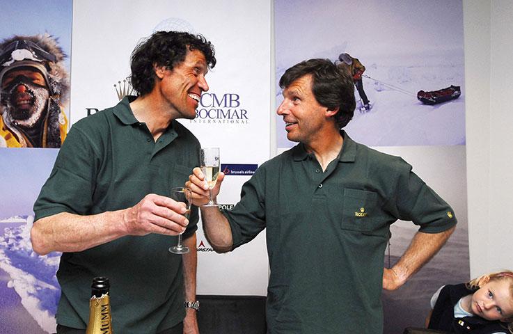 Avec son compatriote Alain Hubert (gauche), Dixie Dansercoer (droite) avait réussi l'exploit de traverser l'Antarctique du nord au sud, entre novembre 1997 et février 1998,