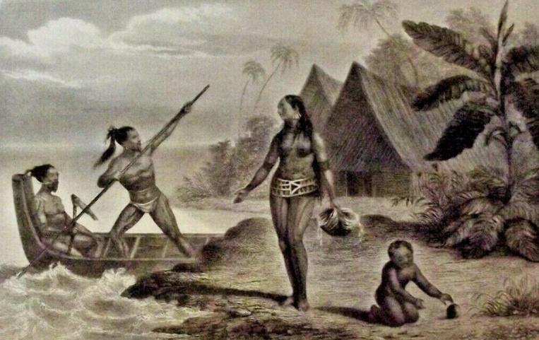 Pour se défendre, les habitants de l'atoll de Sapwuahfik ne disposaient que de lances, de frondes et de casse-têtes, bien peu efficaces face aux armes à feu des hommes du capitaine Hart. Si ces derniers tuèrent tous les guerriers (sauf un), ils gardèrent les femmes en vie, femmes qu'ils se partagèrent.