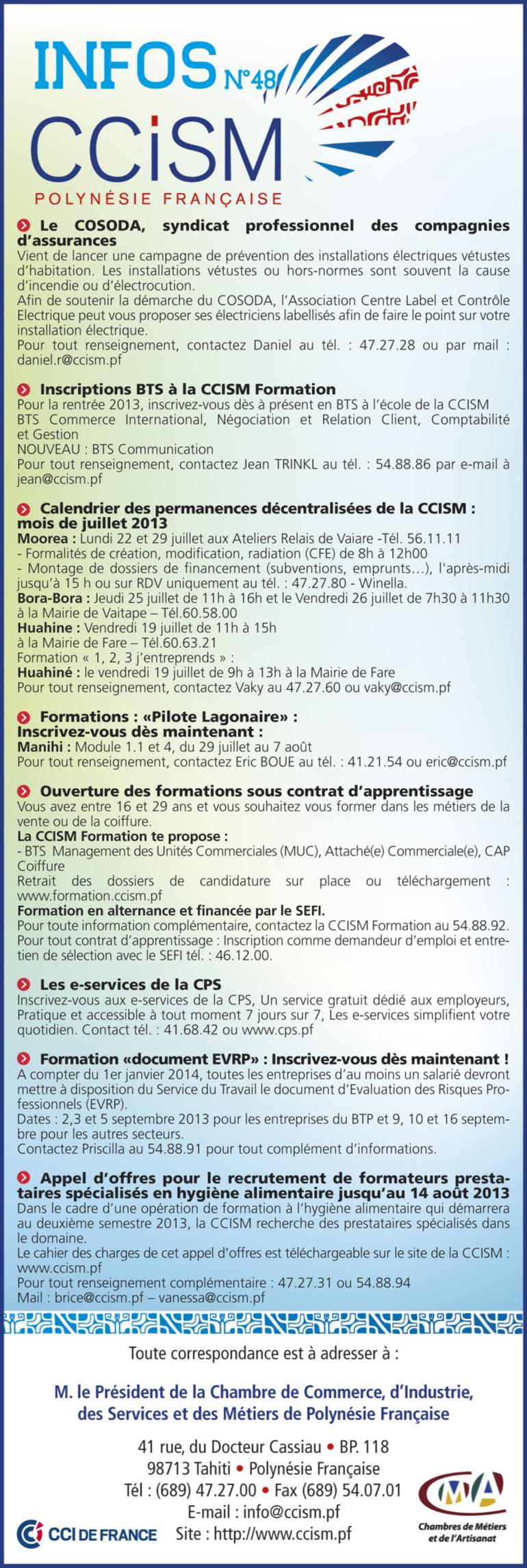 Infos CCISM N°48
