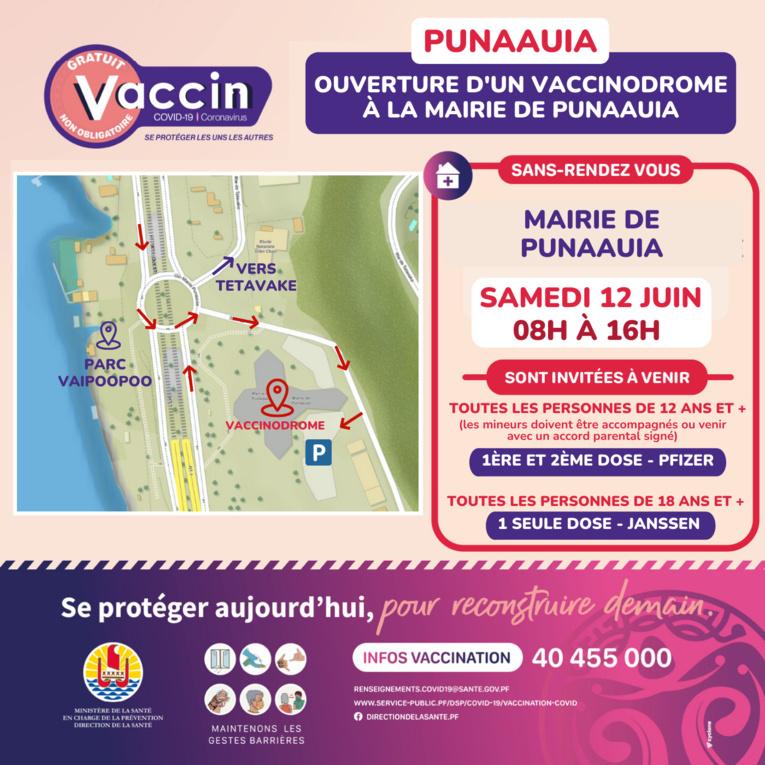 Agenda des vaccinodromes et opérations dans les quartiers