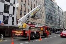 Nouvelle-Zélande: opérations de déblayage à Wellington frappée par un séisme