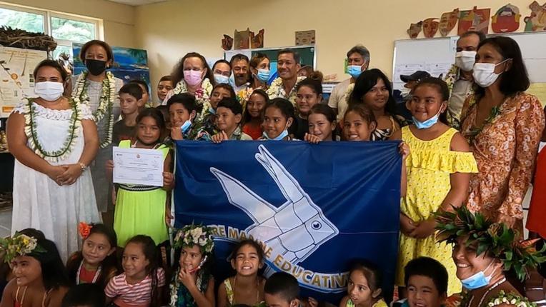 Raiatea : l'école Puohine confirme son label Aire marine éducative