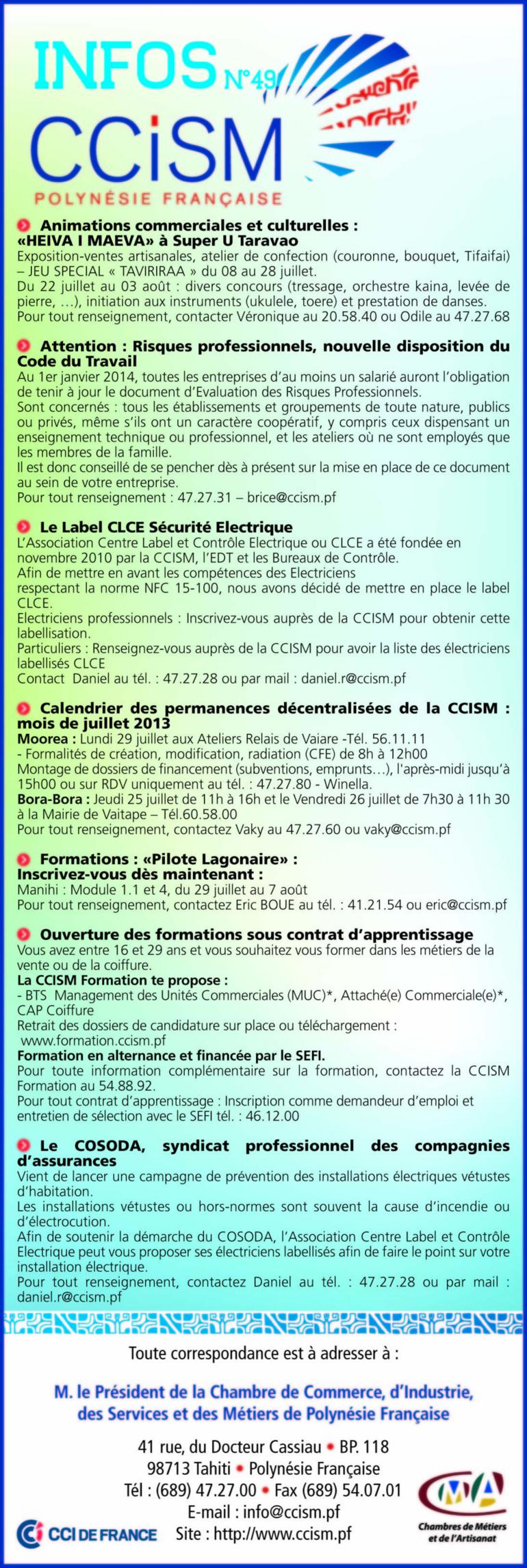 Infos CCISM N°49