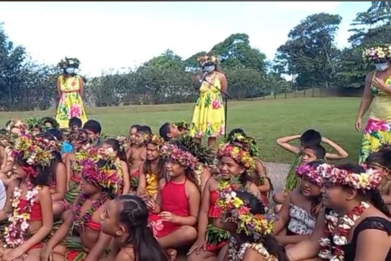 Les élèves de l'école Namaha 3 ont présenté des chants et danses, lors de la traditionnelle fête de fin d'année.
