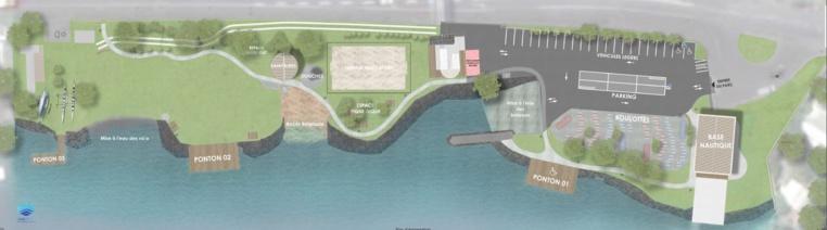 Le parc de Taapuna offre aujourd'hui plus de 8 000 mètres carrés d'emprise accessible au public en bord de mer, au PK 10,3.