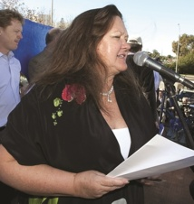 Gina Rinehart photographiée à Perth en juin 2010.