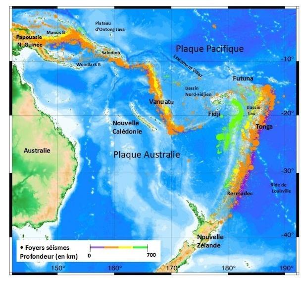 Forte activité sismique entre la Nouvelle-Calédonie et Fidji