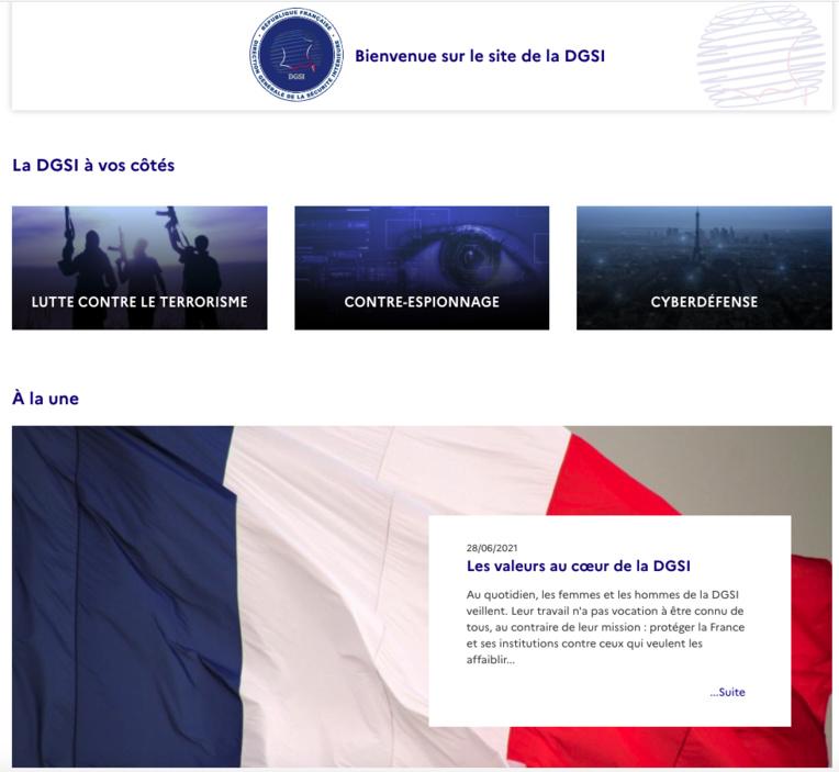 Nouveau site web pour la DGSI