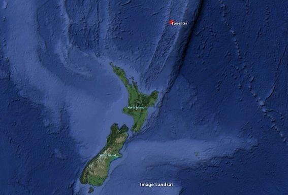 Séisme de magnitude 6 au Nord de la Nouvelle-Zélande