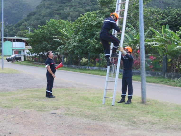 Journées d'examen à Moorea pour les jeunes pompiers