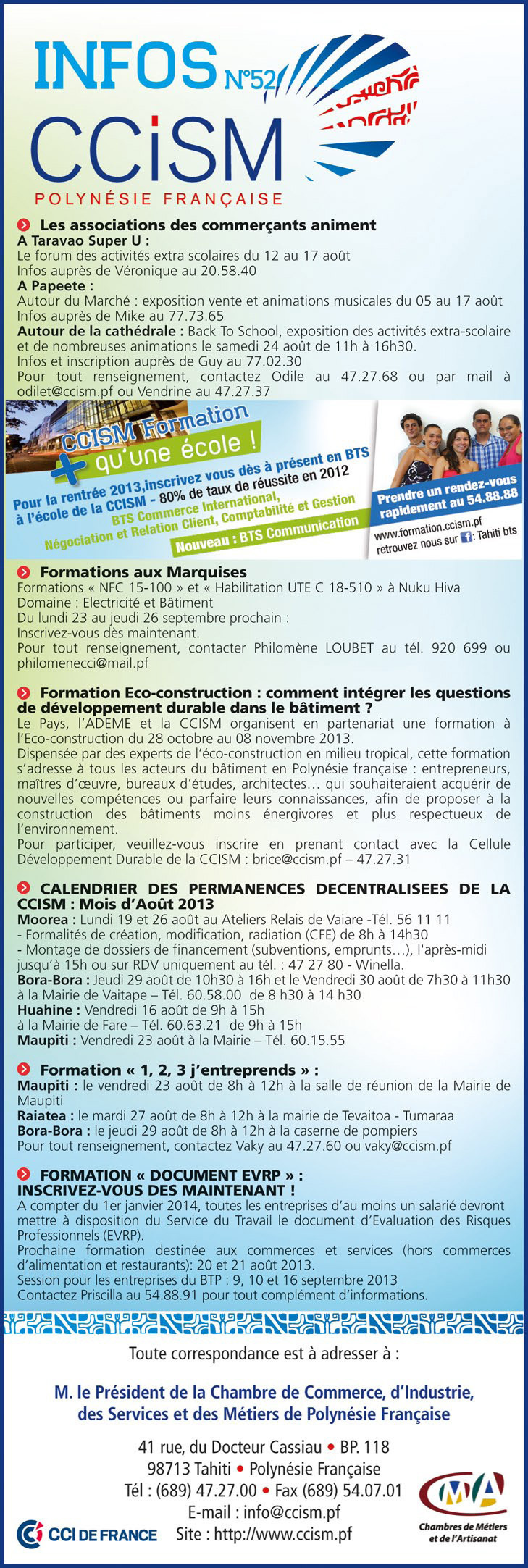 Infos CCISM N°52