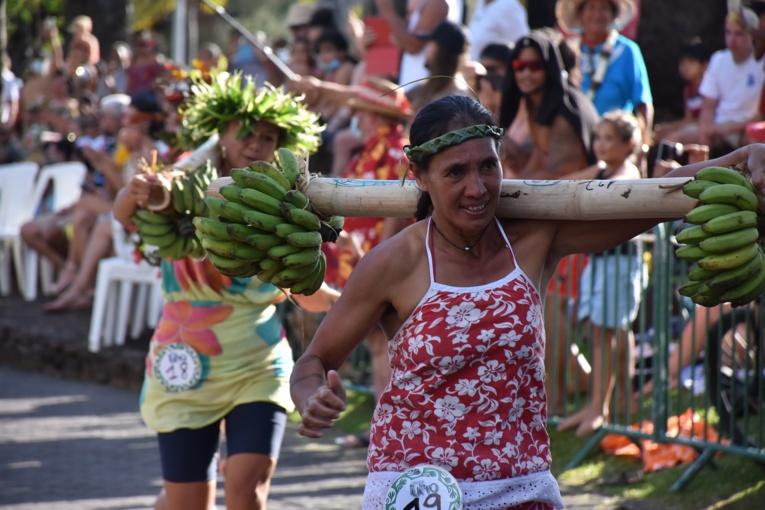 Marguerite Temaiana a enchainé, mercredi, Super Tau'ati et course de porteurs de fruits avec deux succès dans les deux épreuves.
