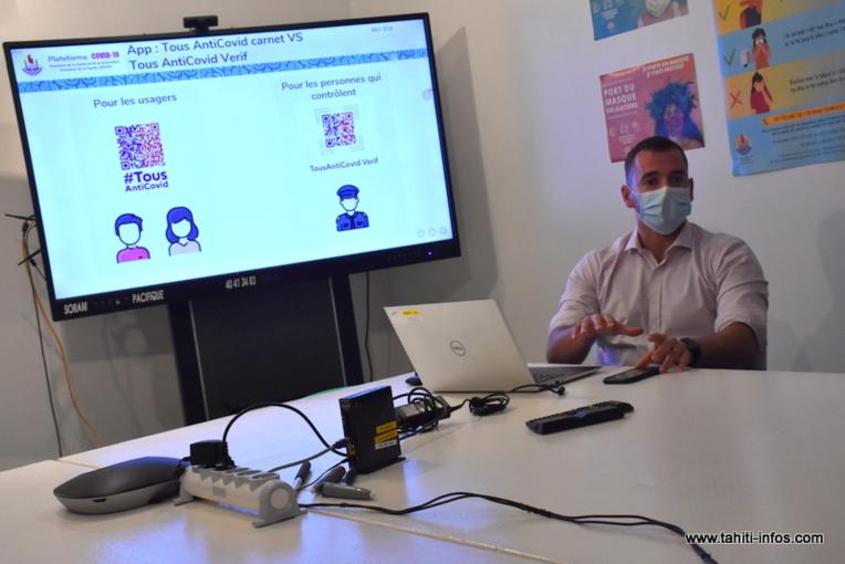 Romain Flory, le chef de projet Santé-numérique de la plateforme Covid.