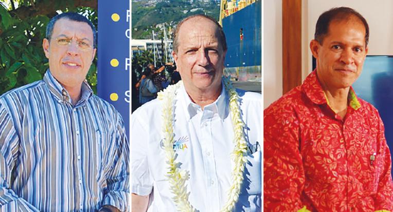 Benjamin Teihotu (à gauche) et Yannick Teriierooiterai (à droite) perdent les présidences de Fare Rata et Onati.