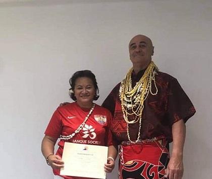 Murielle Teina, première masseuse diplômée d'Etat à Raiatea
