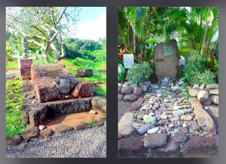 Incontournables, les tombes du peintre Paul Gauguin et de Jacques Brel.
