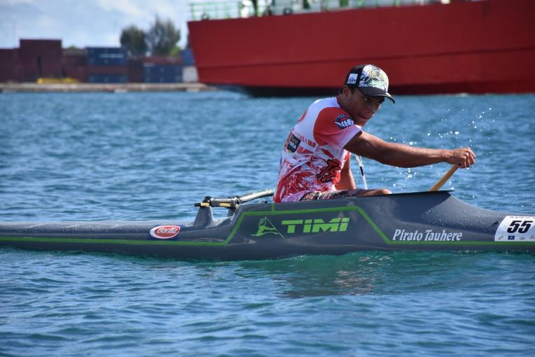Tauhere Pirato, espoir de Shell Va'a, s'est classé troisième de ce Te 'Aito Taure'a.