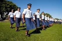 Défilé de police à Tonga