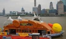 Shanghai possède aussi son canard géant.. mais rôti