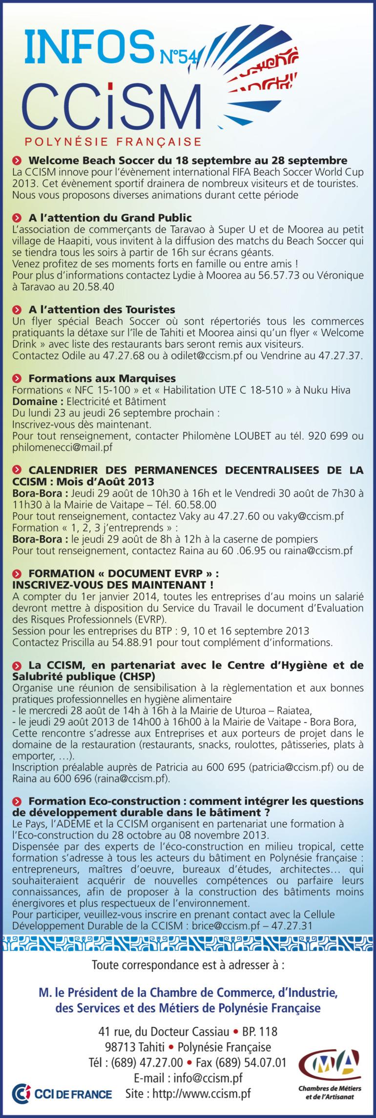 Infos CCISM N°54