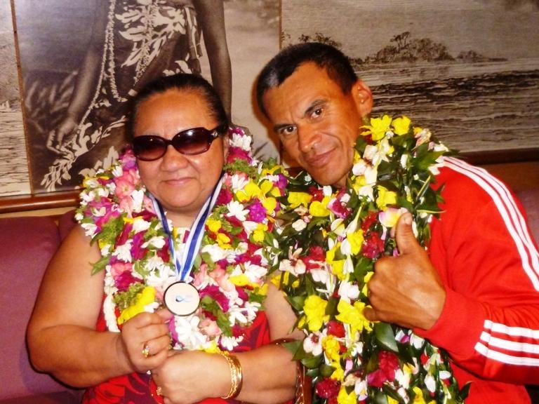 Avec Henirette KAMIA, Présidente de la Fédération Polynésienne de Sports Adaptés et Handisport (FPSAH)