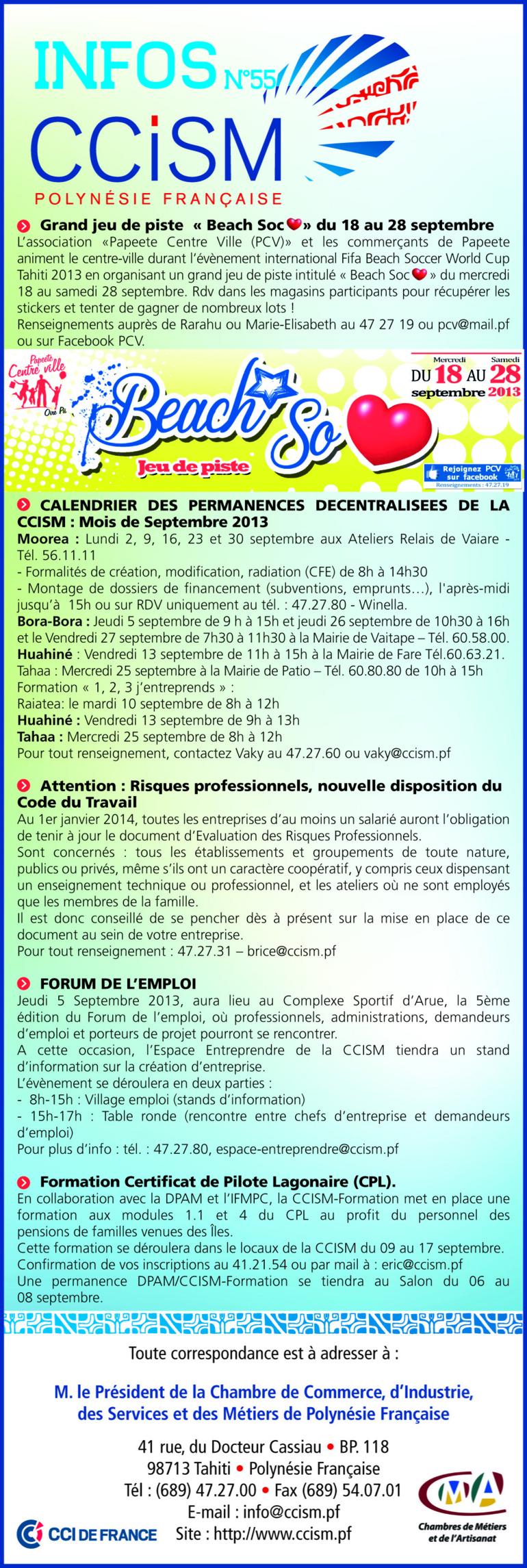 Infos CCISM N°55