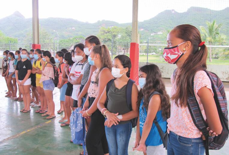 La rentrée des élèves du collège et du cétad de Nuku Hiva est échelonnée sur la semaine. Les classes de 6ème ont été les premières à être accueillies.