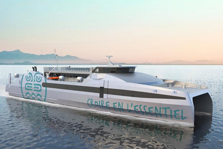 Le futur Apetahi Express de 66 mètres en construction