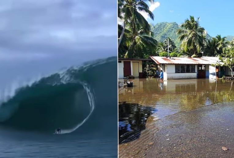 La houle fait le bonheur des surfeurs, pas des riverains