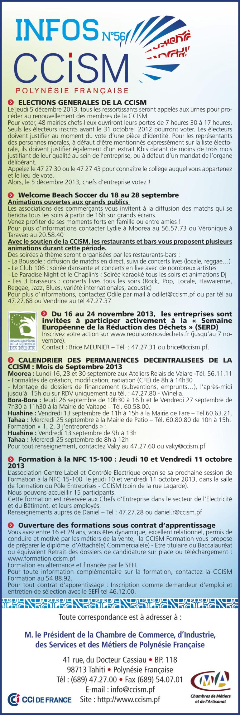Infos CCISM N°56