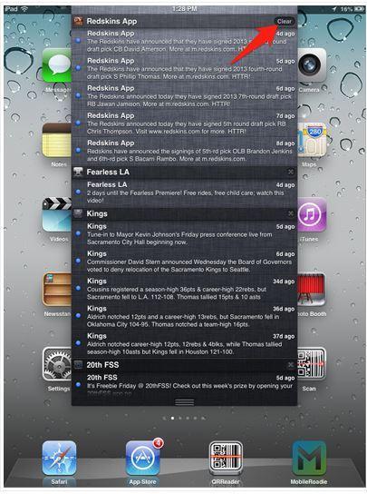 Push sur application IOS: pensez à vider le cache de votre smartphone