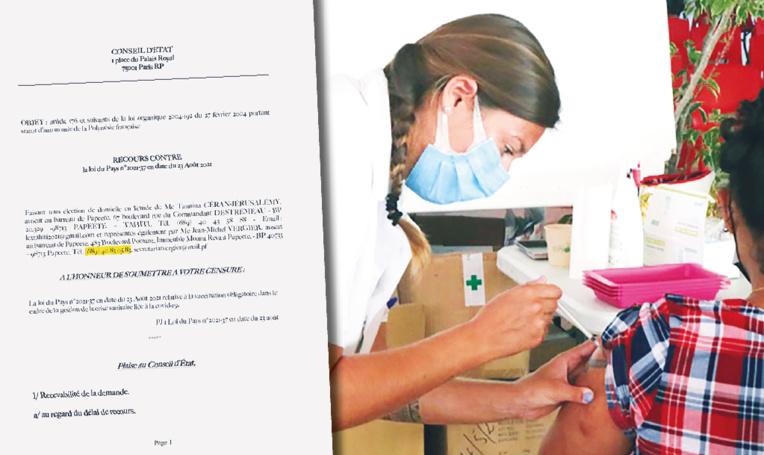 Les détails du recours contre la loi du Pays sur l'obligation vaccinale