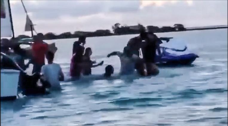 Des vidéos de l'agression au motu Tiahura, à Moorea, avaient circulé sur les réseaux sociaux ©DR