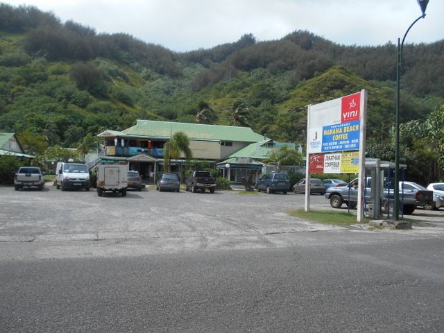 """Le centre du """"Petit Village"""" de Tiahura, à Moorea, où s'est déroulée la seconde rixe."""