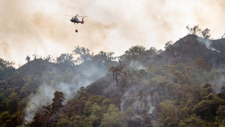 Deux hélicoptères Dauphin de la marine nationale ont été sollicités. Crédit photo : Forces armées en Polynésie française