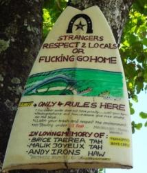 Le surfeur hawaïen Dave Wassel interdit de Sapinus
