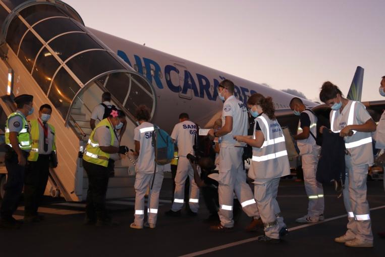 Evacuation sanitaire de huit patients Covid vers Paris