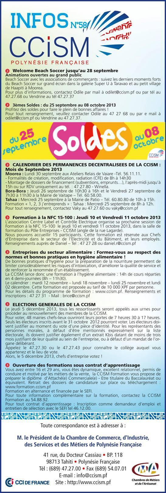 Infos CCISM N°58