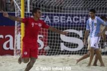 Beach Soccer : Tahiti explose l'Argentine 6 buts à 1 et affrontera la Russie en demi-finale