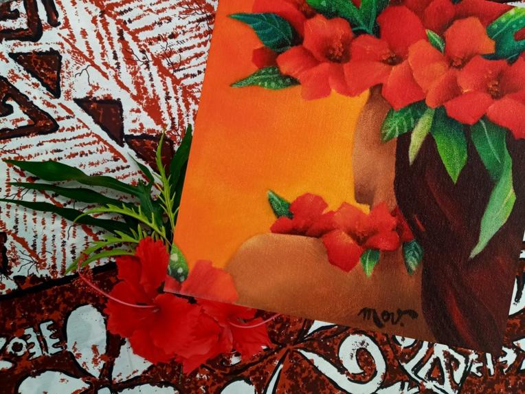 Tehina peint l'amour, encore et encore