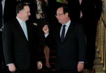 John Key et François Hollande lors de leur rencontre à Paris lundi 23 septembre 2014. (Source photos : Présidence de la République française)