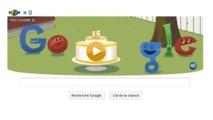Pour son anniversaire Google a mis en place un jeu animé sur sa page d'accueil google.fr