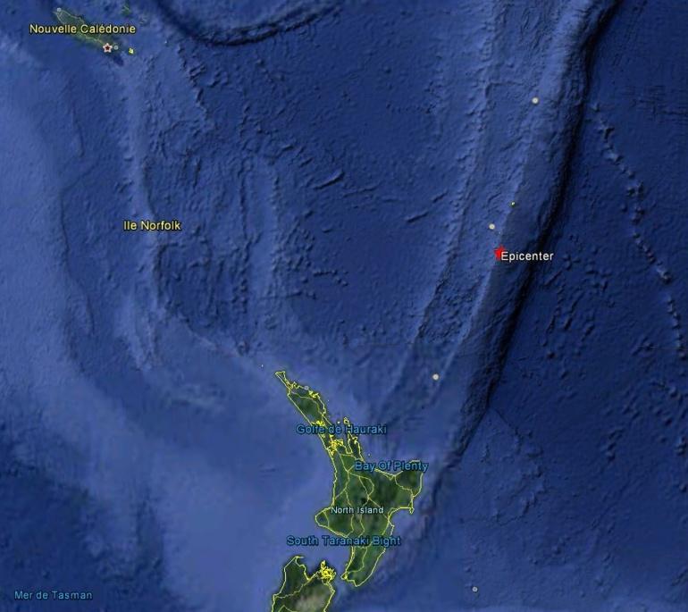 Puissant séisme de 6,7 au Nord de la Nouvelle-Zélande