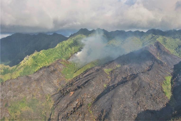 L'incendie de Terre déserte est désormais maîtrisé. Les autorités locales ont veillé tout le week-end à ce qu'aucun feu ne reprenne derrière la fumée blanche qui se dégage encore.