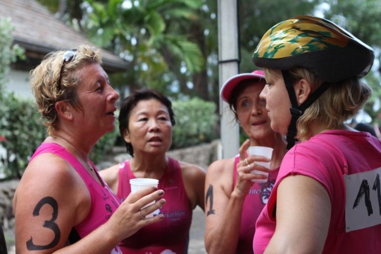 Triathlon- Une cinquantaine de femme dans l'eau, à pied et à vélo pour la 6e édition du Vahine Triathlon.