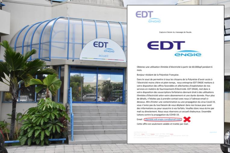 Fausse offre d'EDT mais vraie escroquerie