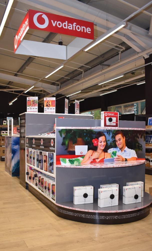 A l'exception du paiement des factures, ce nouveau stand offre tous les services d'une boutique Vodafone.